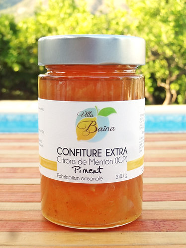 Confiture Extra de citrons de Menton au Piment / Lemon jam with chili