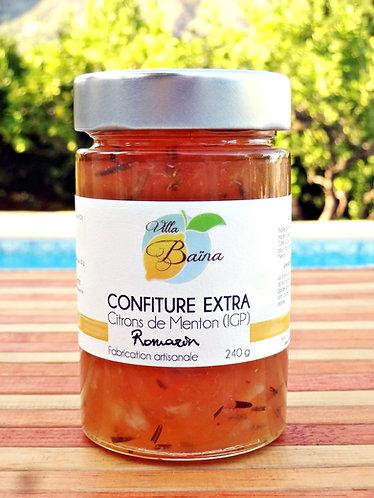 Confiture Extra de citrons de Menton au Romarin / Lemon jam with rosmarine