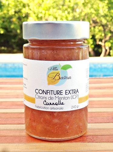 Confiture Extra de citrons de Menton à la Cannelle / Lemon jam with cinnamon
