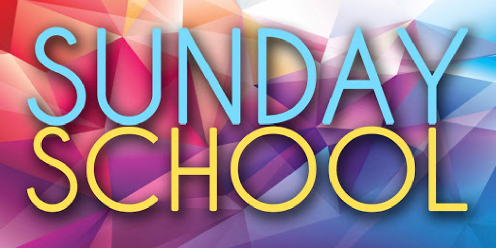 Sunday School  CANCELLED