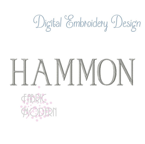 HAMMON caps Embroidery font alphabet #1034