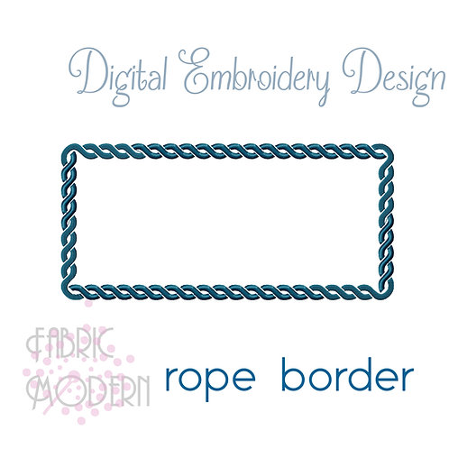 Rope border 4x4, 5x7, 8x10 and continuous #977