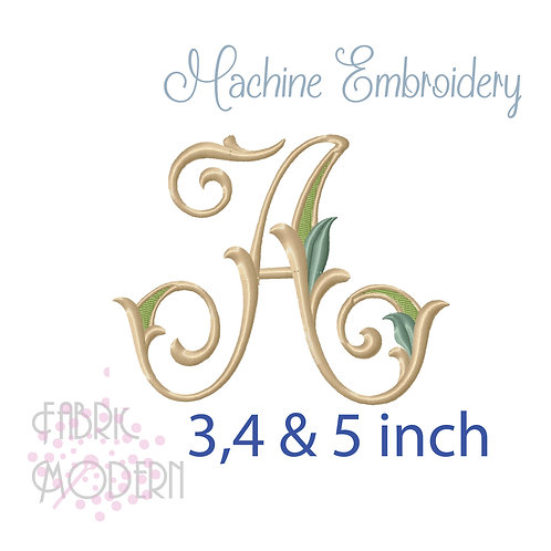 Fancy Letter A monogram three color #1128A