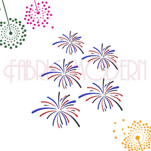 Fireworks Embroidery Design #663