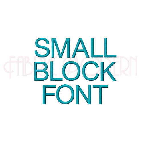SMALL BLOCK FONT Embroidery Font #540 For #537