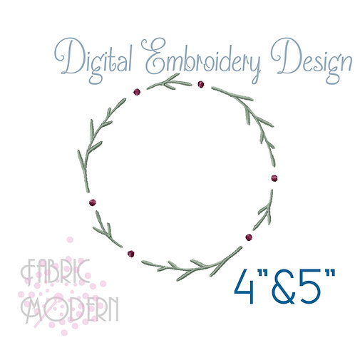 Simple wreath Embroidery