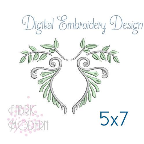 Ornate monogram Wreath #1108
