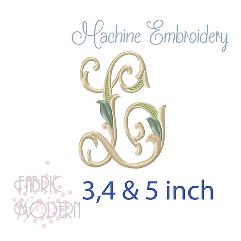 Fancy Letter L monogram three color #1128L