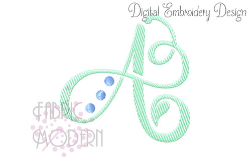 3 inch playful monogram letters #933-3