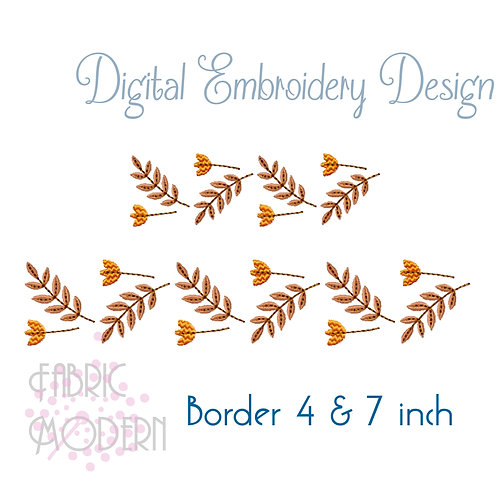 Fall border design, Continuous border 4x4 and 5x7 hoops #1056