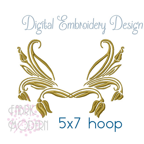 French Royal style  monogram frame Design #1112