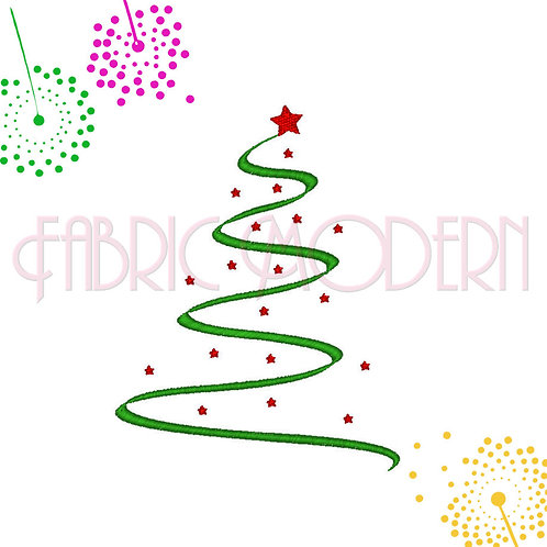Christmas Tree Embroidery Design #257
