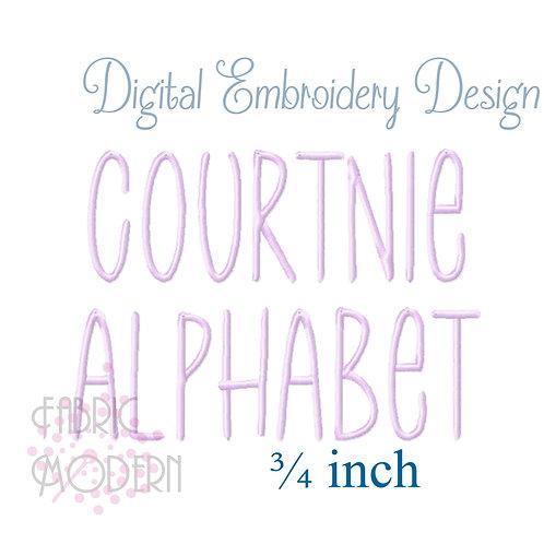 Courtnie 3/4 inch font #1115-.75