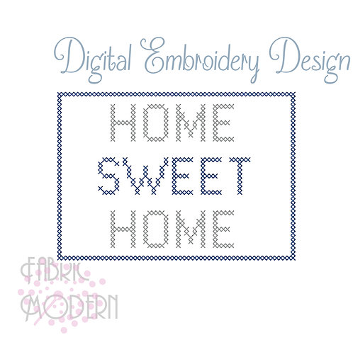 Home Sweet Home Cross Stitch #1102