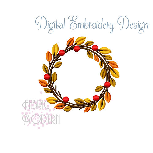 wreath Monogram frame Monogram circle leaves and branches