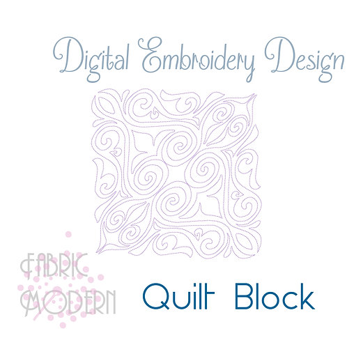 Quilt block embroidery Design  #1044