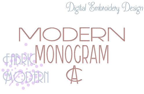 """3"""" Modern Overlapping MONOGRAM"""