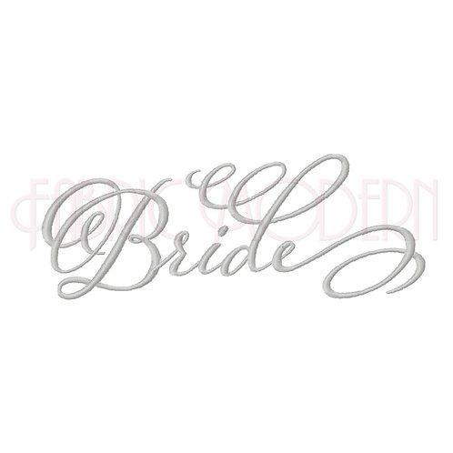 BRIDE Calligraphy Machine Embroidery Design