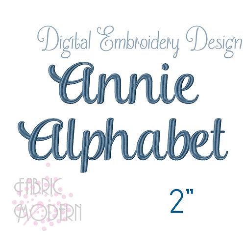 2 inch Annie script font  #631-2