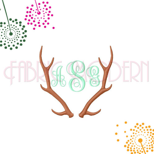ANTLERS MONOGRAM FRAME Machine Embroidery