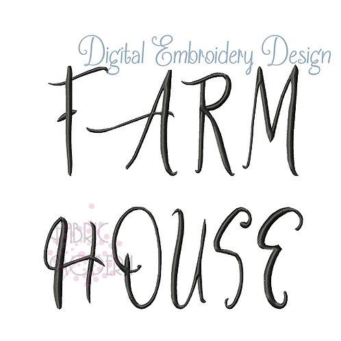3 inch Farmhouse Monogram
