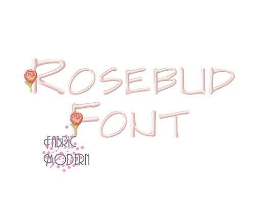 """1.75"""" Rosebud MONOGRAM Flower Font"""