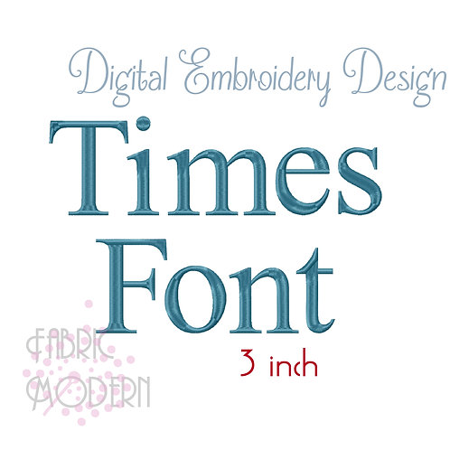 3 inch Times font  #1138