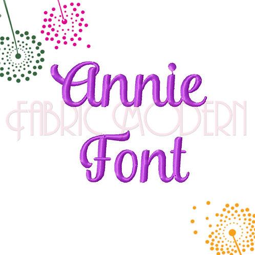 1/2 inch Annie script font  #631-.5