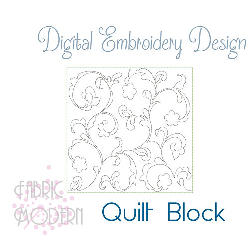 Quilt block embroidery Design  #1120