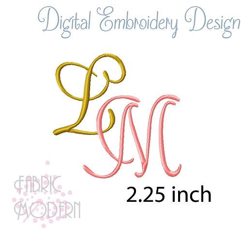 monogram font 2.25 inches #1090