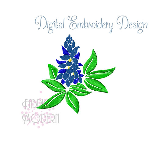 Texas Blue Bonnet Embroidery Design