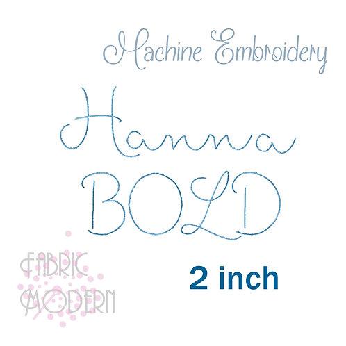 BOLD 2 inch Hanna Handwritten font  #934B-2