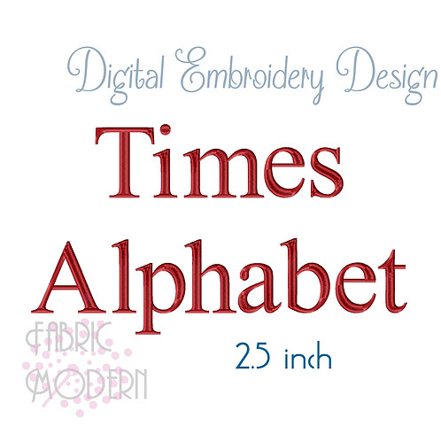 2.5 inch Times font  #1137