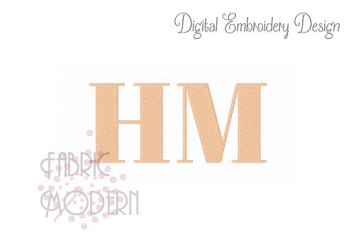 Bold monogram font 1.5 inch  #1043