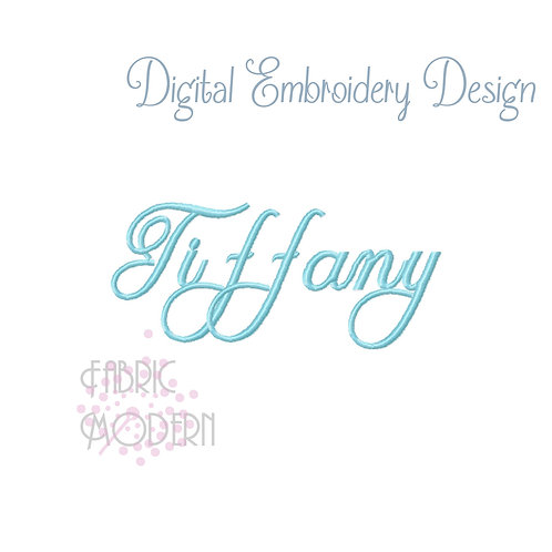 Tiffany Embroidery font alphabet 2 inch #1047