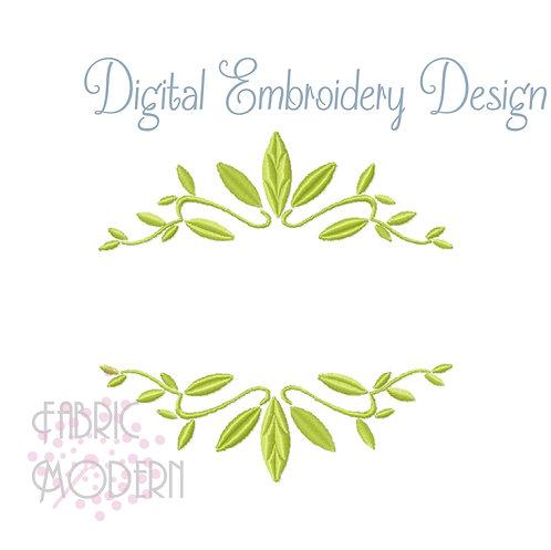 Foliage Frame Embroidery Design