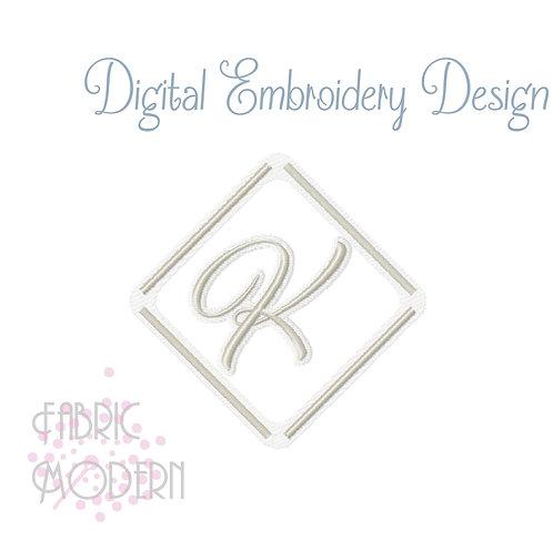 Simple Elegant minimalist MONOGRAM design for towels