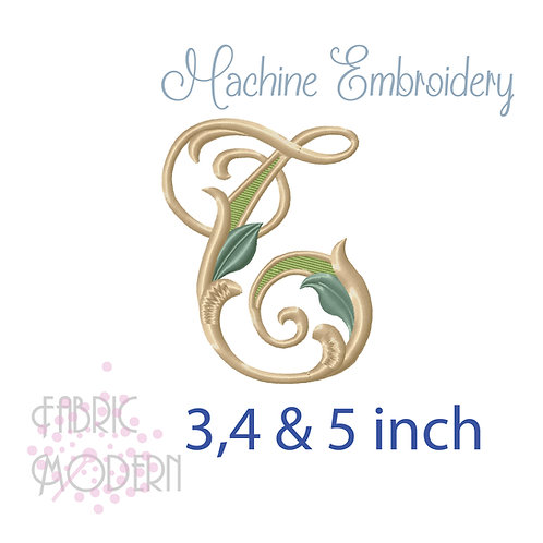 Fancy Letter T monogram three color #1128T