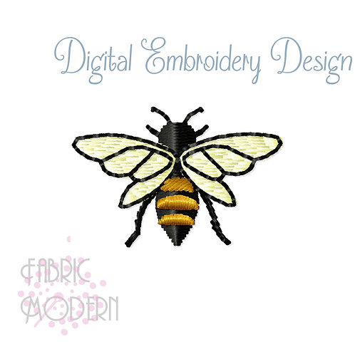 Little Honey Bee Embroidery Design