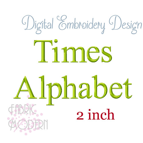 2 inch Times font  #1136