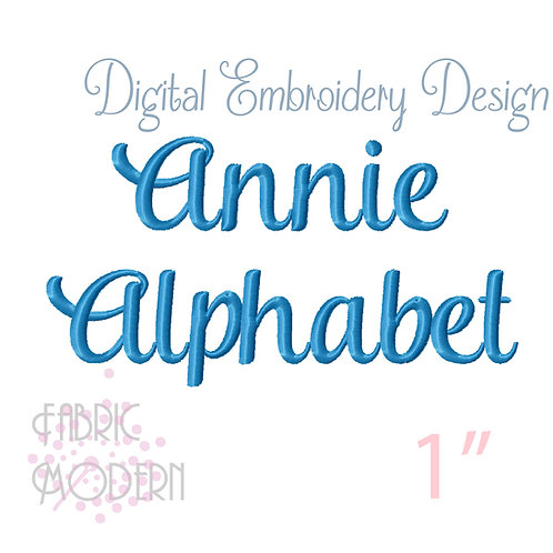 1 inch Annie script font  #631-1