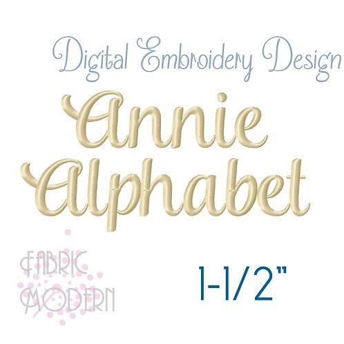 1.5 inch Annie script font  #631-1.5