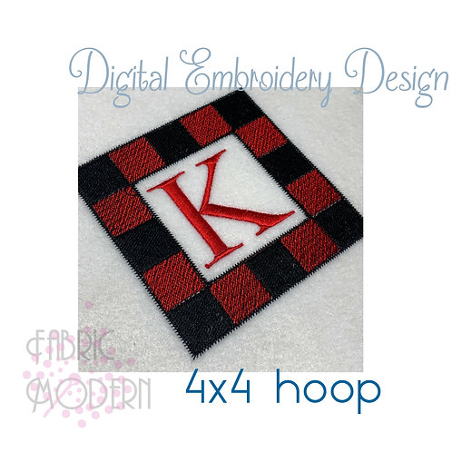 Buffalo Plaid Monogram Frame #1125