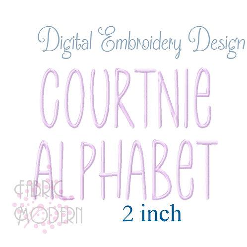 Courtnie 2 inch font #1115-2