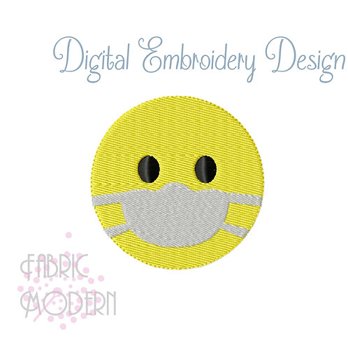 Face Mask Emoji Embroidery Design #1105