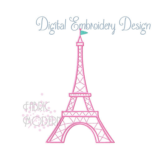 Eiffel Tower Paris Embroidery Design