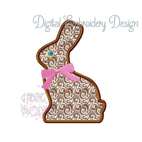 Chocolate Bunny Embroidery Design