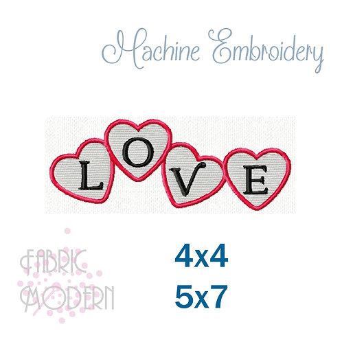Love Valentine 4x4, 5x7