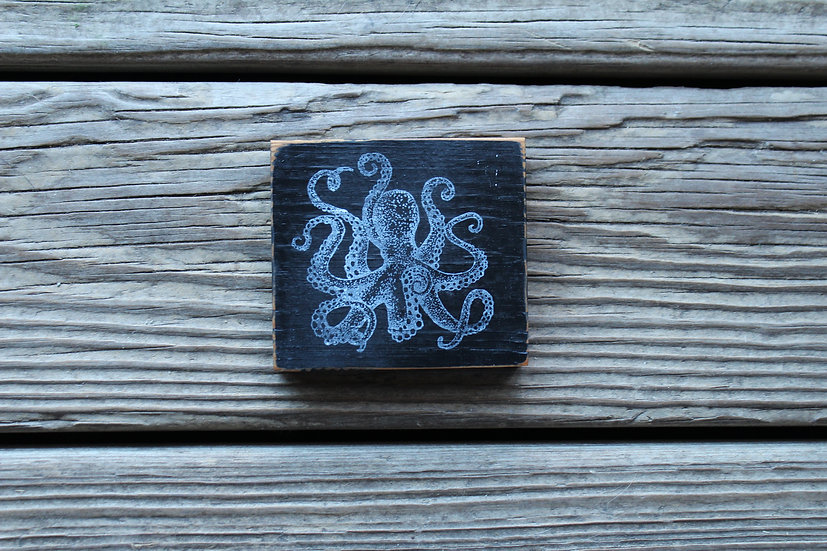 Octopus Wooden Plaque - Small