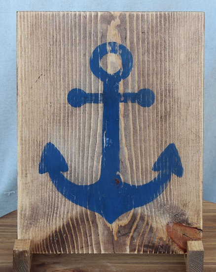 Anchor Wooden Plaque - Large
